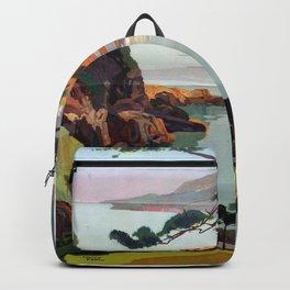 Vintage poster - La Corse, France Backpack
