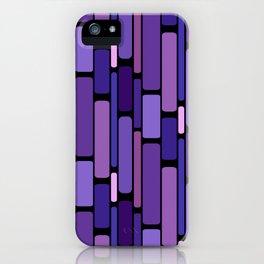 Purple Indigo Retro Blocks iPhone Case