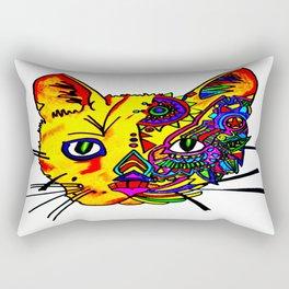 cat face in color Rectangular Pillow