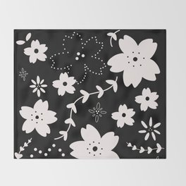 Dark Sakura 2018 Throw Blanket