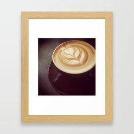 Latte art Framed Art Print
