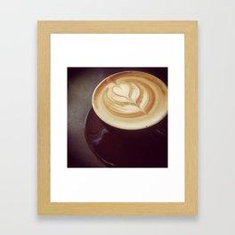 Latte art Framed Art Print