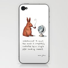 Pipe-smoking rabbit iPhone & iPod Skin