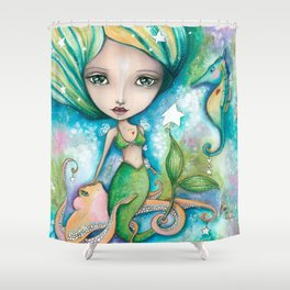 Mermaid Connection Shower Curtain