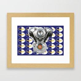 Azores Knucklehead Biker flag Framed Art Print
