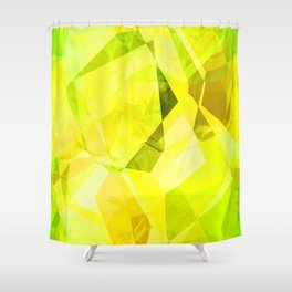 Pale Yellow Poinsettia 1 Abstract Polygons 1 Shower Curtain