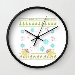 Lineman Christmas Ugly Sweater Design Shirt Wall Clock