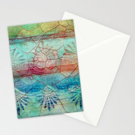 Pastel Seashell Mosaic Stationery Cards