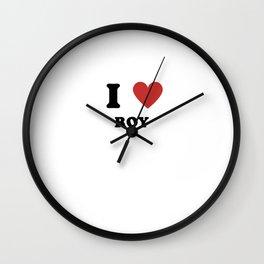 I Love Roy Wall Clock