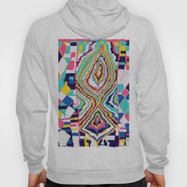 Abstract Tribal Rug in Pink Hoody