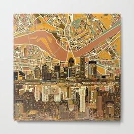 louisville city skyline 2 Metal Print
