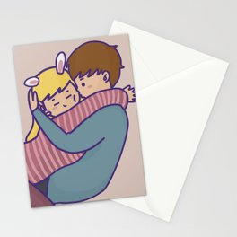 BUNNY KISS PINK Stationery Cards