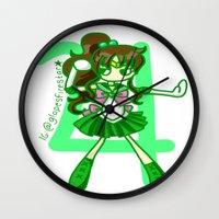 sailor jupiter Wall Clocks featuring Sailor Jupiter by Glopesfirestar