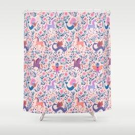 Fairy Folk Floral Shower Curtain
