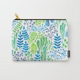 Watercolor floral doodles white Carry-All Pouch