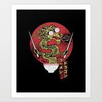 ramen dragon Art Print