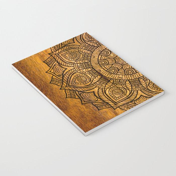 Mandala on wood Notebook