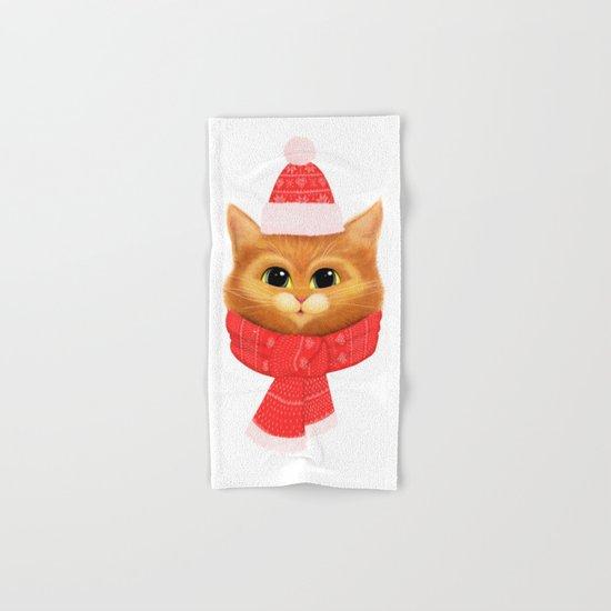 Winter kitty Hand & Bath Towel