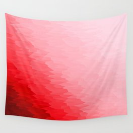 Red Texture Ombre Wall Tapestry