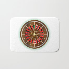Roulette Wheel Bath Mat