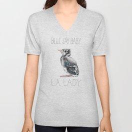 Blue Jay Baby, L.A. Lady Unisex V-Neck