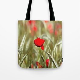 Hot Poppy Tote Bag
