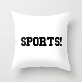 Sports - version 1 - black Throw Pillow
