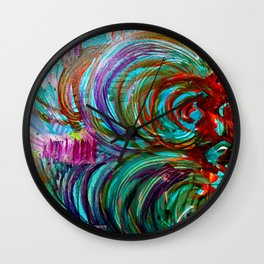 FLOW WITH THE GO Wall Clock