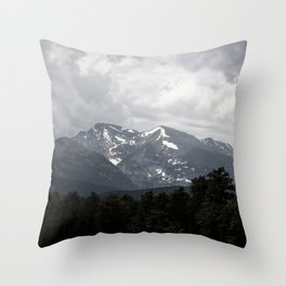 Clouds and Mountains Throw Pillow