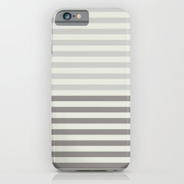 Minimal Half Stripes iPhone Case