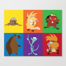 angry beavers characters Canvas Print