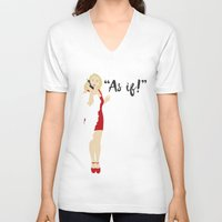 clueless V-neck T-shirts featuring Clueless by Shop Sarah Alyson