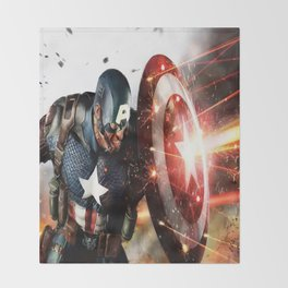 Man Of Captain In America Throw Blanket