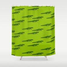Alligators-Green Shower Curtain