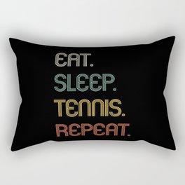 Eat Sleep Tennis Repeat Funny Gift Rectangular Pillow