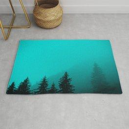 0345v2 Turquoise Fog - Seward, Alaska Rug