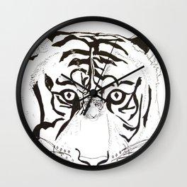 Triptych Tiger Wall Clock