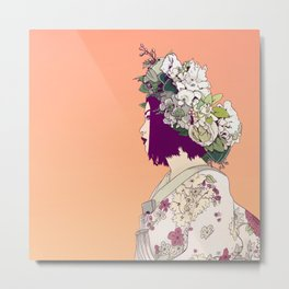 Geisha Under the Sun Metal Print