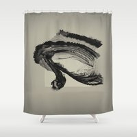 letter Shower Curtains featuring love letter by PandaGunda