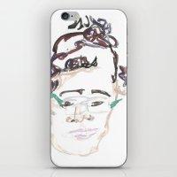 beth hoeckel iPhone & iPod Skins featuring beth by Sadie Padial