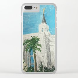 San Salvador El Salvador LDS Temple Clear iPhone Case