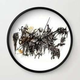 Vile Cosmos (of which we are part) by Brian Benson Wall Clock