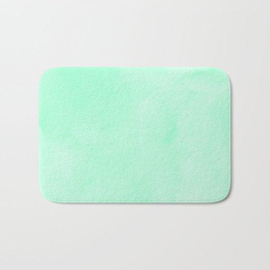 Mint Meringue Watercolor Bath Mat