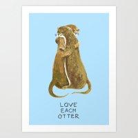Love each otter Art Print