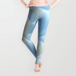 blue 3D Spheres crossover Leggings