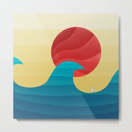 062 - The perfect summer wave Metal Print