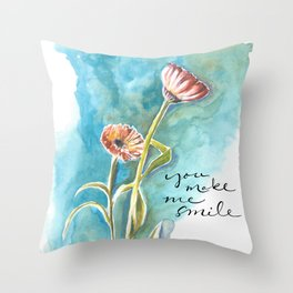 You Make Me Smile Throw Pillow