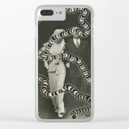 Space-Time Rupture 003 Clear iPhone Case
