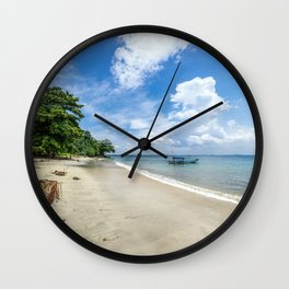Indonesian Beach Wall Clock