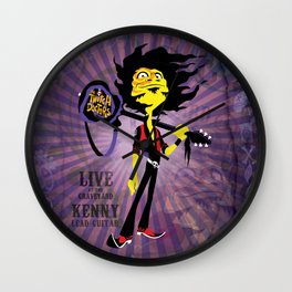 Kenny - Guitar. The Twitch Doctors Wall Clock